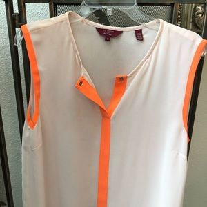 Ted Baker Blush and Orange Shell Tank, UK Size 4